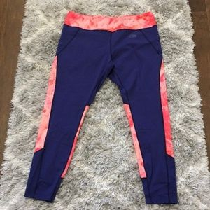 The North Face Red Tie-Dye Capri Workout Leggings